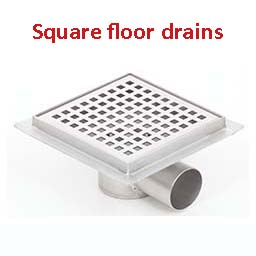 stainless steel floor drains